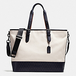 MERCER TOTE IN CANVAS - f72155 - DIAMOND FOULARD