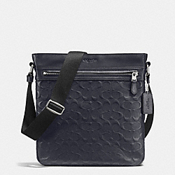 COACH CHARLES TECH CROSSBODY IN SIGNATURE CROSSGRAIN LEATHER - MIDNIGHT - F72221