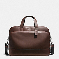 HAMILTON 24 HOUR COMMUTER IN SMOOTH LEATHER - f72224 - MAHOGANY