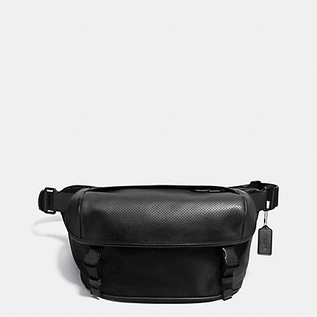 COACH TERRAIN PACK IN PERFORATED LEATHER - BLACK - f72234