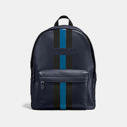 CHARLES BACKPACK IN VARSITY LEATHER - f72237 - MIDNIGHT/DENIM