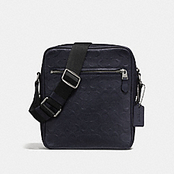 METROPOLITAN FLIGHT BAG IN SIGNATURE LEATHER - MIDNIGHT NAVY/BLACK ANTIQUE NICKEL - COACH F72277