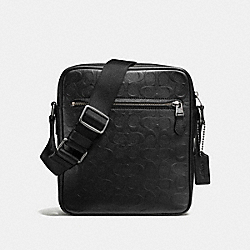 METROPOLITAN FLIGHT BAG IN SIGNATURE LEATHER - BLACK/BLACK ANTIQUE NICKEL - COACH F72277
