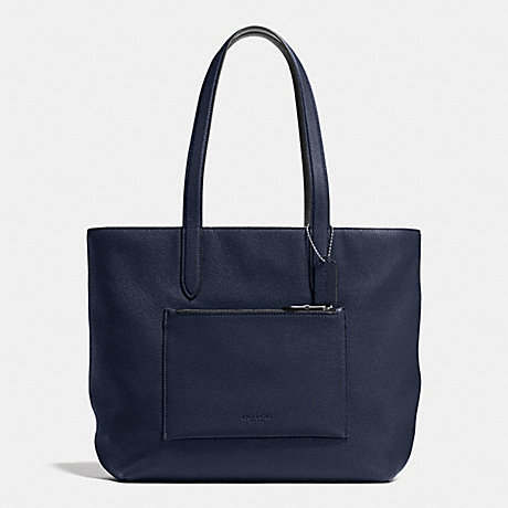 COACH METROPOLITAN SOFT TOTE IN PEBBLE LEATHER - MIDNIGHT NAVY/BLACK/ - f72299
