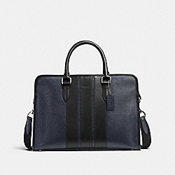 COACH BOND BRIEF IN PEBBLE LEATHER - MIDNIGHT/BLACK - F72308