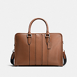 COACH BOND BRIEF IN SMOOTH LEATHER - DARK SADDLE - F72309