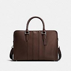 BOND BRIEF IN SMOOTH LEATHER - f72309 - MAHOGANY