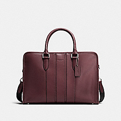 COACH BOND BRIEF IN SMOOTH LEATHER - OXBLOOD - F72309