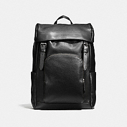 COACH HENRY BACKPACK IN PEBBLE LEATHER - BLACK - F72311