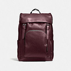 HENRY BACKPACK IN PEBBLE LEATHER - f72311 - OXBLOOD