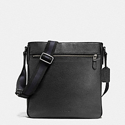 METROPOLITAN CROSSBODY IN PEBBLE LEATHER - f72315 - ANTIQUE NICKEL/BLACK