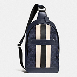 COACH CHARLES PACK IN VARSITY SIGNATURE - MIDNIGHT/CHALK - F72353