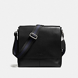 CHARLES SMALL MESSENGER IN SPORT CALF LEATHER - BLACK - COACH F72362