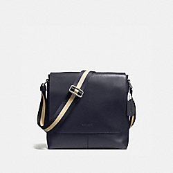 CHARLES SMALL MESSENGER IN SPORT CALF LEATHER - MIDNIGHT - COACH F72362