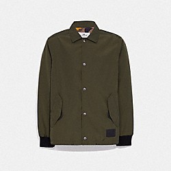 COACH SOLID NYLON JACKET - OLIVE - COACH F72429