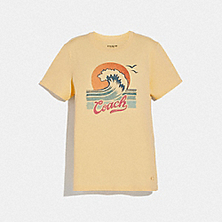 COACH WAVE T-SHIRT - SUNSHINE - COACH F72431