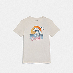 COACH WAVE T-SHIRT - WHITE - COACH F72431