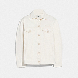 LIGHT DENIM JACKET - WHITE - COACH F72442