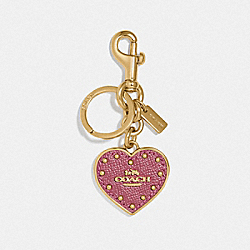 COACH HEART BAG CHARM - ROGUE/GOLD - COACH F72485