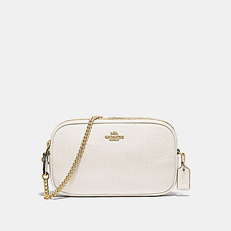 COACH CROSSBODY POUCH - CHALK/GOLD - F72490