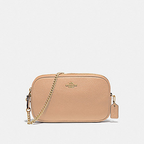 COACH CROSSBODY POUCH - BEECHWOOD/IMITATION GOLD - F72490