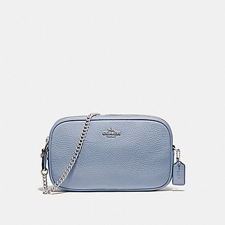COACH CROSSBODY POUCH - STEEL BLUE - F72490