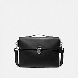 BECKETT FLAP BRIEF - BLACK/NICKEL - COACH F72509