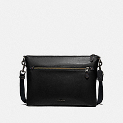 GRAHAM SOFT MESSENGER - BLACK/BLACK ANTIQUE NICKEL - COACH F72511