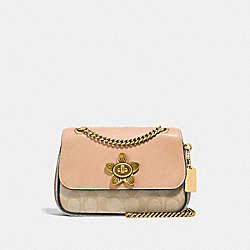 MINI CASSIDY CROSSBODY IN SIGNATURE CANVAS - LIGHT KHAKI/BEECHWOOD MULTI/IMITATION GOLD - COACH F72624