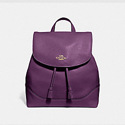 ELLE BACKPACK - GOLD/BLACKBERRY - COACH F72645
