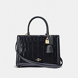 SMALL ZOE CARRYALL - BLACK/GOLD - COACH F72666