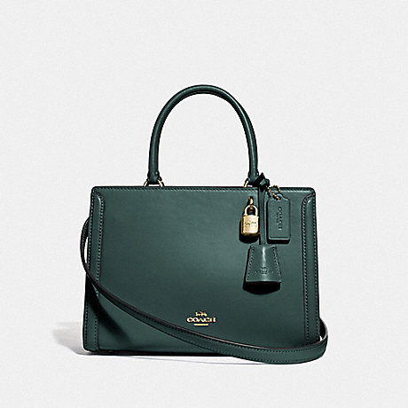 COACH SMALL ZOE CARRYALL - IM/EVERGREEN - F72667
