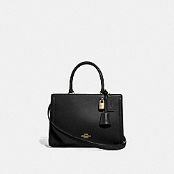 SMALL ZOE CARRYALL - BLACK/GOLD - COACH F72667