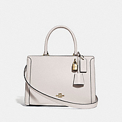 SMALL ZOE CARRYALL - CHALK/GOLD - COACH F72667