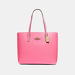 TOWN TOTE - PINK RUBY/IMITATION GOLD - COACH F72673