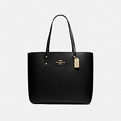 TOWN TOTE - BLACK/IMITATION GOLD - COACH F72673