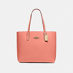 TOWN TOTE - LIGHT CORAL/IMITATION GOLD - COACH F72673