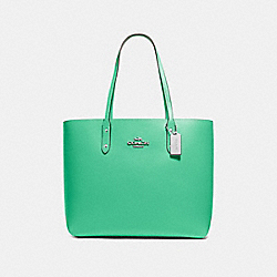 TOWN TOTE - GREEN/SILVER - COACH F72673