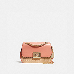 MINI CASSIDY CROSSBODY - NATURAL LIGHT CORAL/GOLD - COACH F72709