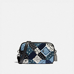 JES CROSSBODY WITH AMERICANA PATCHWORK - SILVER/DENIM/MULTI - COACH F72761