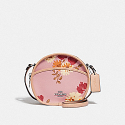 CANTEEN CROSSBODY WITH PAINTED PEONY PRINT - CARNATION MULTI/SILVER - COACH F72804