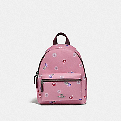 DISNEY X COACH MINI CHARLIE BACKPACK WITH SNOW WHITE AND THE SEVEN DWARFS GEMS PRINT - TULIP/MULTI/SILVER - COACH F72817
