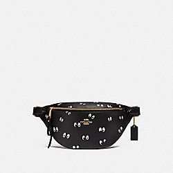 DISNEY X COACH BELT BAG WITH SNOW WHITE AND THE SEVEN DWARFS EYES PRINT - BLACK/MULTI/GOLD - COACH F72818