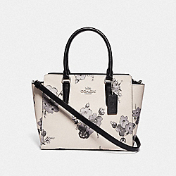 LEAH SATCHEL WITH FAIRY TALE FLORAL PRINT - SILVER/CHALK MULTI - COACH F72837