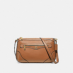 IVIE MESSENGER - LIGHT SADDLE/GOLD - COACH F72839