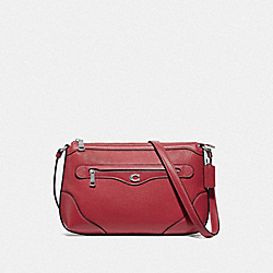 IVIE MESSENGER - WASHED RED/SILVER - COACH F72839
