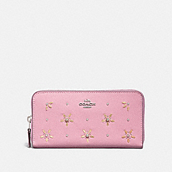 ACCORDION ZIP WALLET WITH ALLOVER STUDS - TULIP - COACH F72892