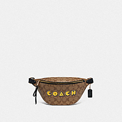 BELT BAG IN SIGNATURE CANVAS WITH PAC-MAN COACH PRINT - KHAKI MULTI /GOLD - COACH F72910