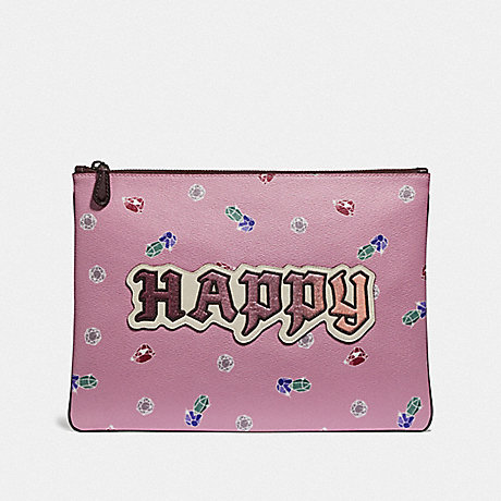 COACH DISNEY X COACH LARGE WRISTLET 30 WITH HAPPY - MULTI - F72913