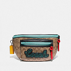 TERRAIN BELT BAG IN SIGNATURE CANVAS - TAN/BLACK ANTIQUE NICKEL - COACH F72931